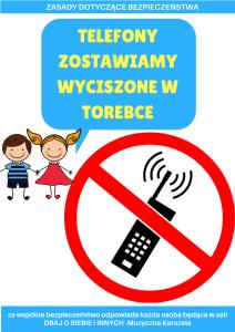 telefony wyciszamy zasady zakaz